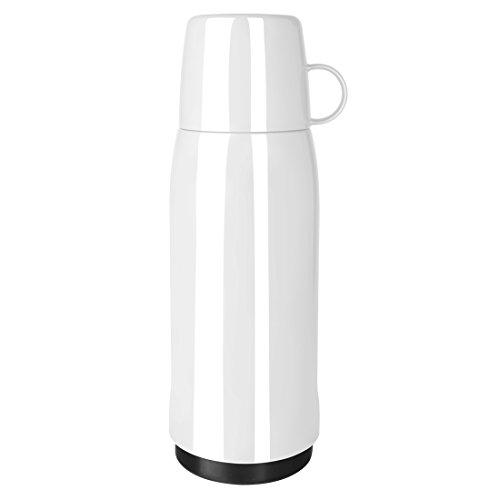 Emsa 502446 Isolierflasche, Mobil genießen, 750 ml, Schraubverschluss, Weiß, Rocket