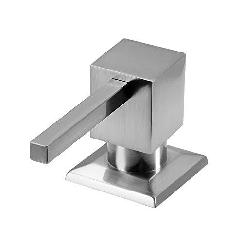 Cuadrado Dispensador de jabón es acero inoxidable 304, Fregadero de cocina con dispensador de lavavajillas y de jabón 13OZ