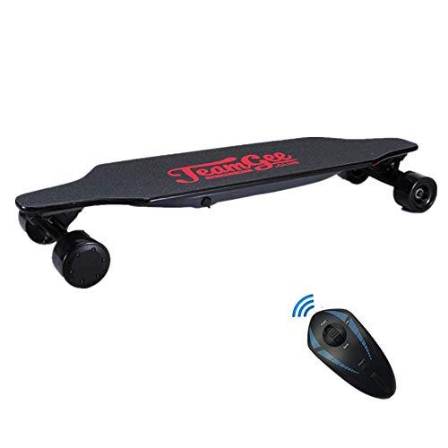 Elektrisches Skateboard Mit Fernbedienung, Elektrisches Longboard Mit Multi-Layer-Ahornfaser, Doppelantriebs-Skateboard, Max Travel 15 Km 30 Km/H, Höchstgeschwindigkeit