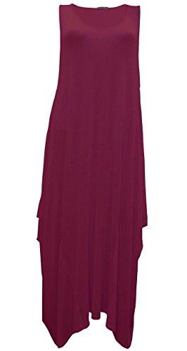 Comfiestyle - Robe - Robe - Sans Manche - Femme Bordeaux