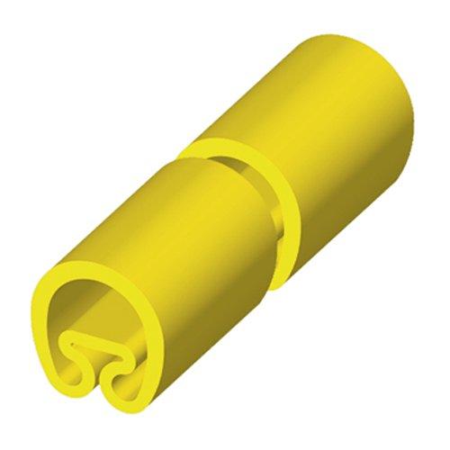 Unex 1853-m PVC Magnete Manschette, gelb, 18mm Durchmesser, 28mm Länge, Paket von 1000