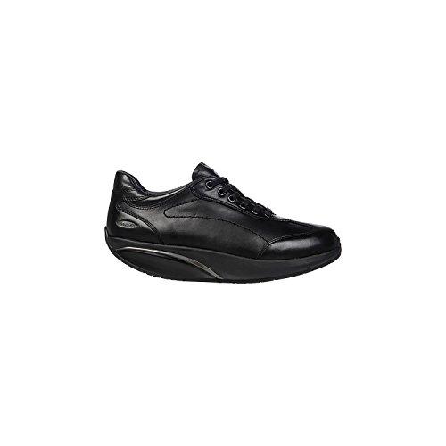 MBT PATA 6S 700825 espadrilles noires chaussures en cuir noir de lacets Nero