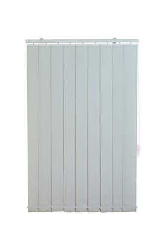 Sunlines HW5102 Vertikaler Lamellenvorhang Fixmaß, Stoff, grau, 200 x 250 cm