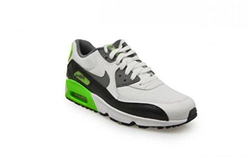 Nike White / Cool Grey-Electric Green, Chaussures de Sport Garçon Blanc Cassé - Blanco (White / Cool Grey-Electric Green)