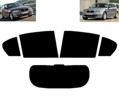 Tintcom.com Pellicola Oscurante Vetri Auto Pre-Tagliata per 1 Serie E87 5-Porte 2004-2011 Vetri Posteriori & Lunotto (05% Super Nero)