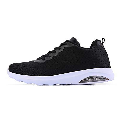 TORISKY Sportschuhe Herren Damen Laufschuhe Air Cushion Luftkissen Sneakers Turnschuhe Fitness Gym Leichtes Bequem Schuhe(A33-BK43) (Teure Schuhe)
