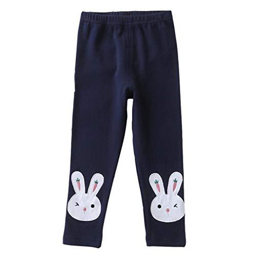 feiXIANG Neonato Pantaloni Coniglio Stampato Casuale Pantaloni Lunghi per Bambini Abiti Bambino e Bambina Pantaloni del Pigiama Leggings Ricamati Pantacollant