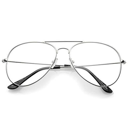 Kiss Brillen in neutralen mod. AIR FORCE 1-stil Aviatore - optischen rahmen CULT TROPFEN mann frau VINTAGE - SILVER