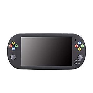 Blue-Yan Spielekonsole X16 8 g Tragbare Spielkonsole Sreen Draagbare 7″ TV-Ausgang kompatibel mit CPS/GBA/MD/S7-GBC