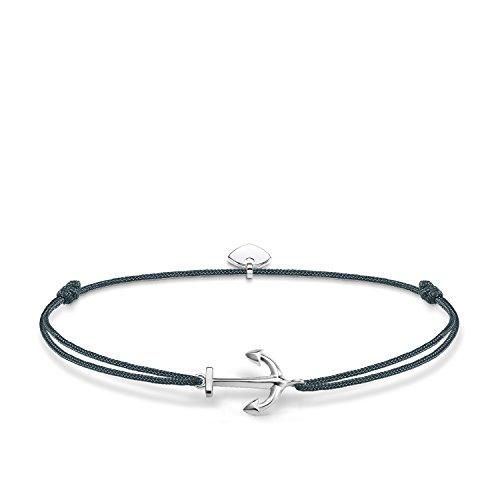 Thomas Sabo Damen-Armband Little Secrets Anker 925 Sterling Silber Blau LS070-173-5-L20v -