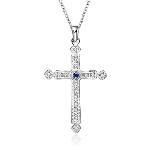 hmilydyk-fashion-cross-blue-crystal-sterling-silver-plated-jewellery-necklace