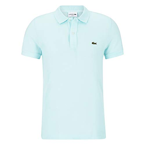 Lacoste PH4012 Herren Polo Shirt Kurzarm,Männer Polo-Hemd,2 Knopf,Slim Fit,Aquarium(F8R),X-Small (2) -