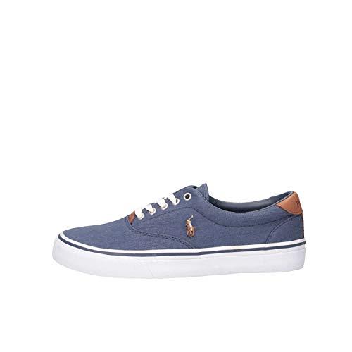 Polo Ralph Lauren, Thorton Twill N Navy, dunkelblauer Sneaker für Männer, 43 (Ralph Lauren Polo Hausschuhe)