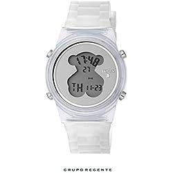 Reloj TOUS D-Bear Fresh de policarbonato con correa de silicona blanca