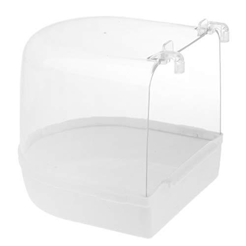 FLAMEER Badehaus für Vögel/Papageien - Weiß
