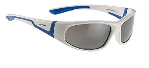 Alpina Kinder Sonnenbrille FLEXXY JUNIOR Sportbrille, white-blue, One Size