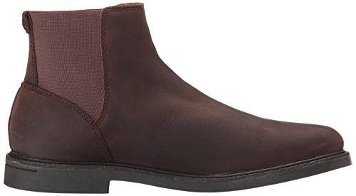 Sebago Mens Turner Chelsea Waterproof Ankle Bootie Dark Brown Leather WP