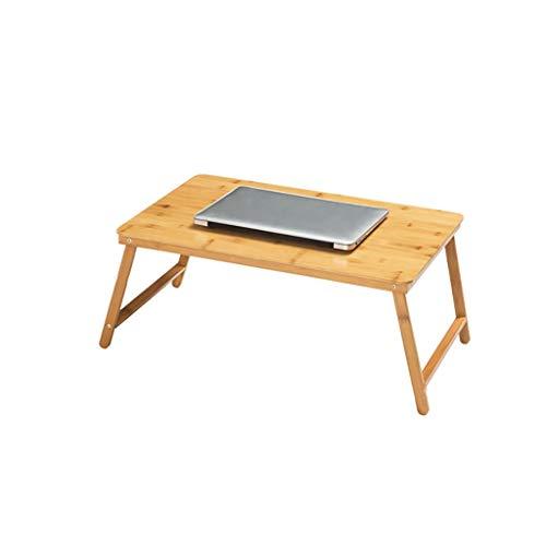 GAIQIN Dauerhaft Laptoptisch aus Bambus – faltbar – Rutschfest – Starke Tragfähigkeit