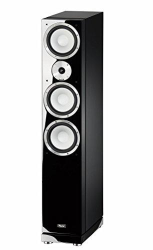 Magnat 147170 Quantum 757 I 3 Wege-Standlautsprecher mit hochwertigem HiFi-Sound I Elegante Lautsprecherbox mit Doppelbass - Schwarz piano/seidenmatt