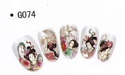 Stickers Water decal Ongles - G074