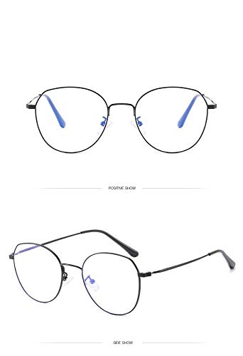 Anti-Blue-Light-Brille mit großem Rahmen, schwarzer Unisex-Rahmen