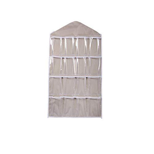 Berrose 16 Taschen löschen Hängesack Socken BH-Unterwäsche Rack-Aufhänger Speicherorganisator-Transparente BH Unterwäsche Rack Kleiderbügel Aufbewahrungstasche Organizer Garderobe sparen Platz -