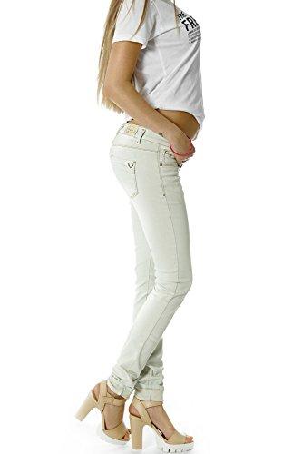 Bestyledberlin Damen Jeans Hosen, Röhrenjeans j05ab Hellgrau