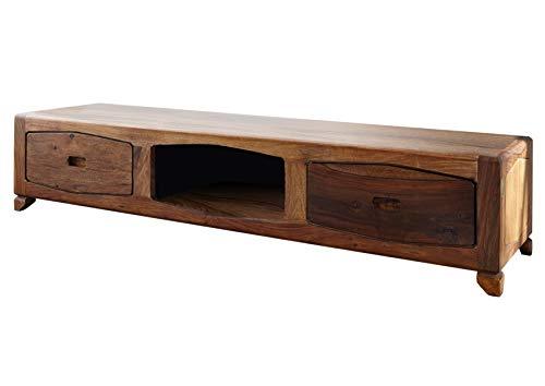 MASSIVMOEBEL24.DE Palisander Massivholz lackiert TV-Board Sheesham Holz Möbel massiv braun Ancona #107
