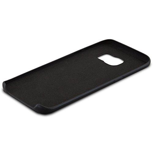 "iPhone 8 Plus Hülle / iPhone 7 Plus Hülle Rose Gold - CASEZA ""Berlin"" Kunstleder Case - Ultra dünnes Leder Backcover für das Original Apple iPhone 8 Plus & 7 Plus - Premium PU Lederhülle Ledertasche Schwarz Galaxy S7 Edge"