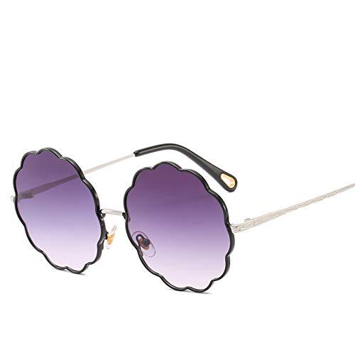 Wenkang Vintage Floral Lenses Frame Sunglasses Fashion Round Flower Pink Frame Sun Glasses Women Men Decoration Eyewear Female,1