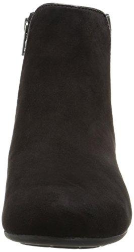 Rockport Total Motion Wedge Bootie 45mm Damen Rund Mode-Stiefeletten Black Kid/Hair On
