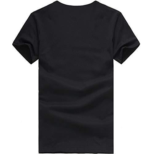 iHENGH Damen Top Bluse Lässig Mode T-Shirt Frühling Sommer Bequem Blusen Frauen Women Girls Plus Size Print Tees Shirt Short Sleeve T-Shirt Blouse ()