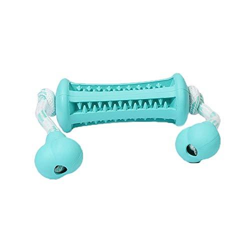 LOSVIP Hund Molar Stick Hund Interaktives Spielzeug Effektive Zahnbürste Leckage Food Teeth Cleaning Stick(Himmelblau,L)