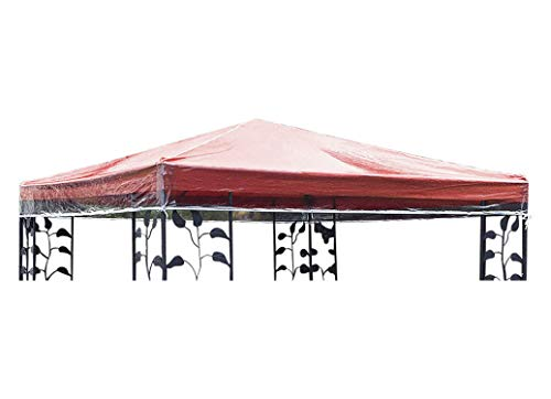 Quick-star - telo protettivo per gazebo, 3 x 3 m, impermeabile, trasparente
