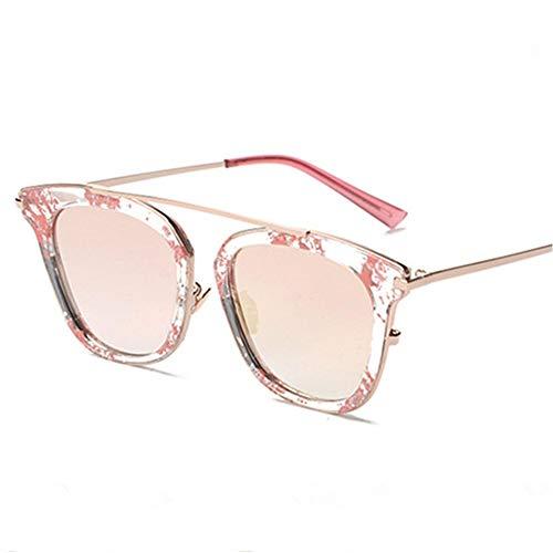 Persönlichkeit Retro Round Face Sonnenbrille Fahren Europa und Amerika Retro Sonnenbrille Brille Sonnenbrille Brille (Farbe : Pink)