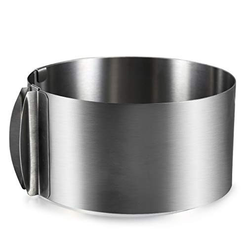 ONEDONE verstellbar Kuchenring 6 zu 12 inch Edelstahl Tortenring Rahmen Kuchenform Backrahmen Kuchenrahmen Tortenform mit Skala
