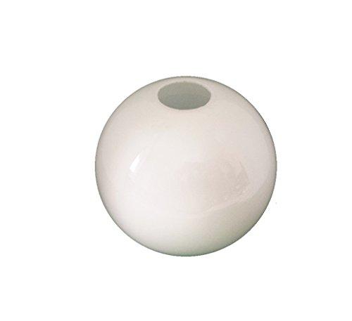 13.5cm diamètre Verre Blanc Sphériques Abat-jour Suspendu. Circonférence: 42cm, Petit trou (haut): 3.1cm dia., Grand trou: 9cm dia. [éclairage lumière ballon rond sphère remplacement lustre globe]