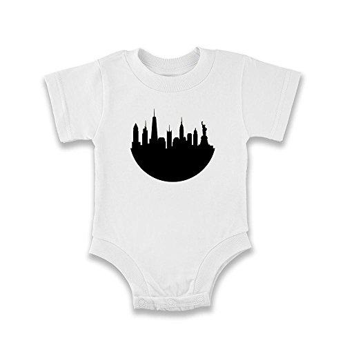 Pop Threads Herren T-Shirt, weiß, 901708 (Baby Big Apple T-shirt)
