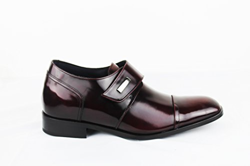 Zerimar Chaussures avec Augmente Intérieur DE 7 CM Style Décontracté Couleur Bordeaux burdeos
