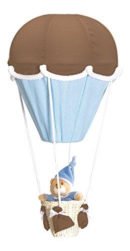 PMP-Lámpara, diseño de globo, color marrón y turquesa
