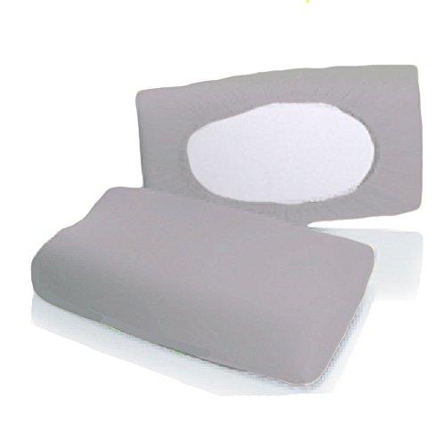 Bellana Gesundheitskissen Bezug Mako Jersey 30-50 x 40-80 cm und 8-15 cm Höhe cm Farbe: silber -