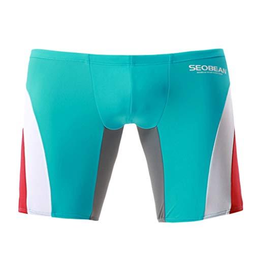 EUZeo Herren Schnür-Halo Contrast Sexy Boxer Bademode Kordelzug Niedrige Taill Schwimmhose Badepants Wettkampf Badehose Solid Jammer Swim Shorts Boardshorts Beachshorts Beachwear