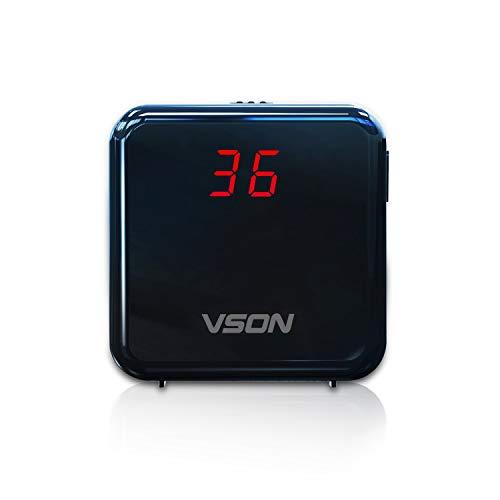 VSON Portable Air Quality Monitor PM2.5 Detektor mit Akku für Home Office Schule Krankenhaus oder Outdoor Auto Professionelle Lasersensor Detektor -