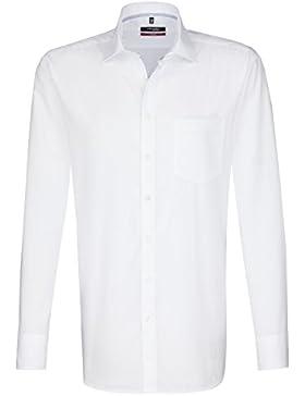 Seidensticker Herren Langarm Hemd Modern Splendesto Regular Fit Business Kent Patch7 weiß 112376.01