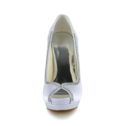 Jia Jia Wedding 4096A chaussures de mariée mariage Escarpins pour femme Blanc
