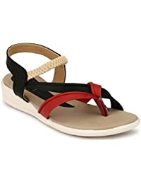 Rimezs Multicolor Casual Daily Wear Flat Sandal For Women And Girls
