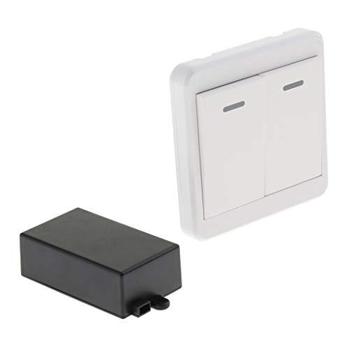 perfk Universal Funkschalter Fernschalter Einbauschalter Abschaltautomatik mit Fernbedienung, 433MHz