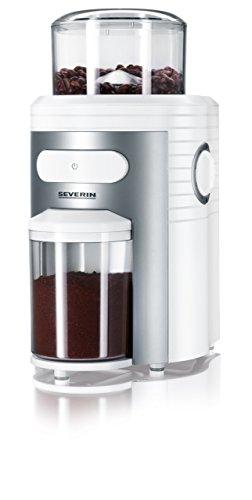 Severin KM 3873 - Molinillo de café, 150 W, temporizador, mecanismo triturador cónico, color blanco plateado