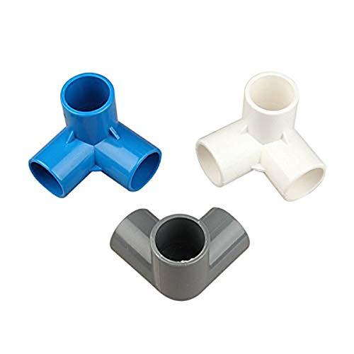 Morning May 16 Stk. Kunststoff PVC 20 mm Rohr Tee Anschluss 3 Wege Comune für Bewässerung Garten Adapter Rohr -