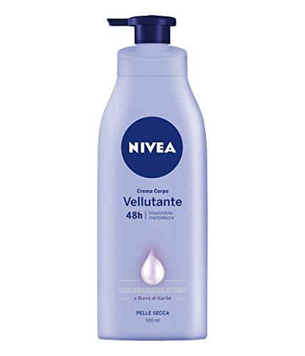 Nivea crema corpo vellutante, irresistibile morbidezza per pelle secca, 500 ml